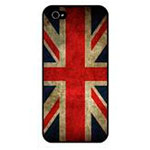 Скин Pate Front Back Protector для Apple iPhone 5/5S (UK Flag)