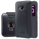 Чехол Nillkin Sparkle Leather Case для HTC One Me M9e (темно-серый, винилискожа)