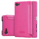 Чехол Nillkin Sparkle Leather Case для Sony Xperia Z5 compact (розовый, винилискожа)