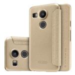 Чехол Nillkin Sparkle Leather Case для LG Nexus 5X (золотистый, винилискожа)