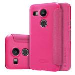 Чехол Nillkin Sparkle Leather Case для LG Nexus 5X (розовый, винилискожа)