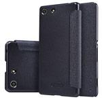 Чехол Nillkin Sparkle Leather Case для Sony Xperia M5 (темно-серый, винилискожа)