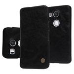 Чехол Nillkin Qin leather case для LG Nexus 5X (черный, кожаный)