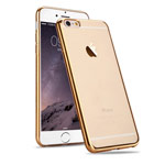 Чехол RGBMIX X-Fitted Full Protection для Apple iPhone 6/6S (Champagne Gold, гелевый)