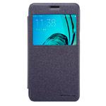 Чехол Nillkin Sparkle Leather Case для Samsung Galaxy J3 SM-J310 (темно-серый, винилискожа)
