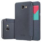 Чехол Nillkin Sparkle Leather Case для Samsung Galaxy A9 A9000 (темно-серый, винилискожа)