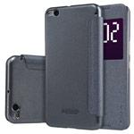 Чехол Nillkin Sparkle Leather Case для HTC One X9 (темно-серый, винилискожа)