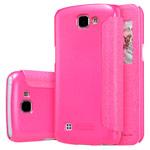 Чехол Nillkin Sparkle Leather Case для LG K4 (розовый, винилискожа)
