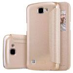 Чехол Nillkin Sparkle Leather Case для LG K4 (золотистый, винилискожа)