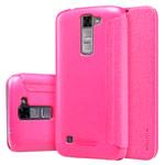 Чехол Nillkin Sparkle Leather Case для LG K7 (розовый, винилискожа)