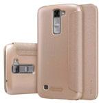 Чехол Nillkin Sparkle Leather Case для LG K7 (золотистый, винилискожа)