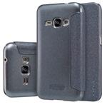 Чехол Nillkin Sparkle Leather Case для Samsung Galaxy J1 2016 J120 (темно-серый, винилискожа)