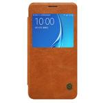 Чехол Nillkin Qin leather case для Samsung Galaxy J5 2016 J510 (коричневый, кожаный)