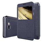Чехол Nillkin Sparkle Leather Case для Samsung Galaxy C7 C7000 (темно-серый, винилискожа)