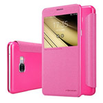 Чехол Nillkin Sparkle Leather Case для Samsung Galaxy C7 C7000 (розовый, винилискожа)