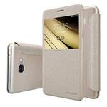 Чехол Nillkin Sparkle Leather Case для Samsung Galaxy C7 C7000 (золотистый, винилискожа)