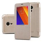 Чехол Nillkin Sparkle Leather Case для Meizu MX5 (золотистый, винилискожа)