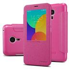 Чехол Nillkin Sparkle Leather Case для Meizu MX5 (розовый, винилискожа)