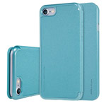 Чехол Nillkin Sparkle Leather Case для Apple iPhone 7 (голубой, винилискожа)