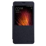 Чехол Nillkin Sparkle Leather Case для Xiaomi Redmi Note 4 (темно-серый, винилискожа)
