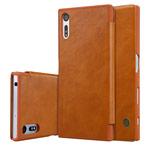 Чехол Nillkin Qin leather case для Sony Xperia XZ (коричневый, кожаный)