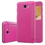 Чехол Nillkin Sparkle Leather Case для Samsung Galaxy J7 Prime (розовый, винилискожа)