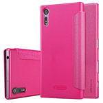 Чехол Nillkin Sparkle Leather Case для Sony Xperia XZ (розовый, винилискожа)