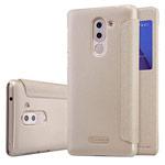 Чехол Nillkin Sparkle Leather Case для Huawei Honor 6X (золотистый, винилискожа)