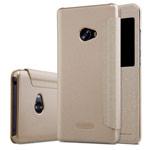 Чехол Nillkin Sparkle Leather Case для Xiaomi Mi Note 2 (золотистый, винилискожа)