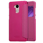 Чехол Nillkin Sparkle Leather Case для Xiaomi Redmi 4 prime (розовый, винилискожа)
