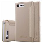 Чехол Nillkin Sparkle Leather Case для Sony Xperia X compact (золотистый, винилискожа)