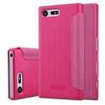 Чехол Nillkin Sparkle Leather Case для Sony Xperia X compact (розовый, винилискожа)