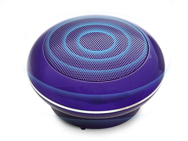 Портативная колонка Divoom Bluetune-POP (фиолетовая, безпроводная, моно)