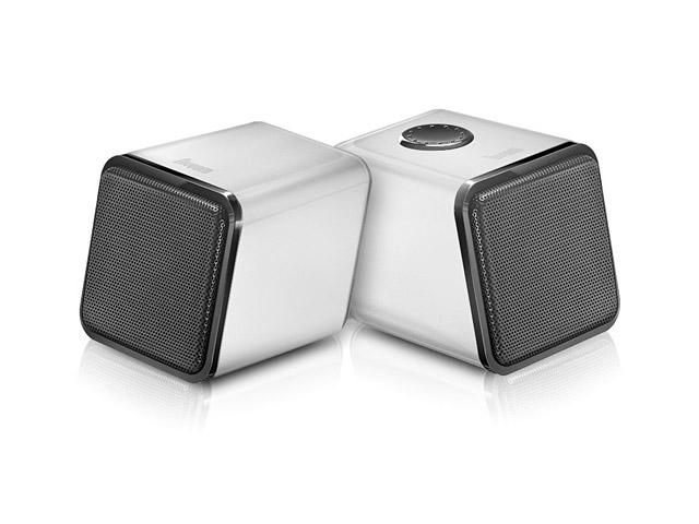 Стерео-колонки Divoom IRIS-02 (белые, стерео, компьютерные)