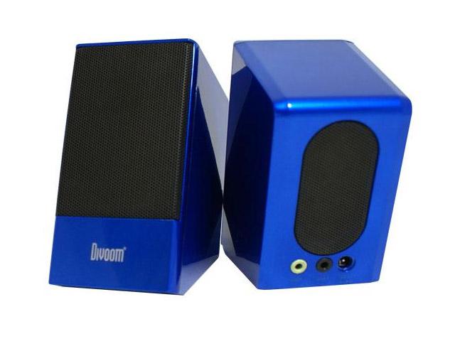 Стерео-колонки Divoom IRIS-05 (голубые, стерео, компьютерные)