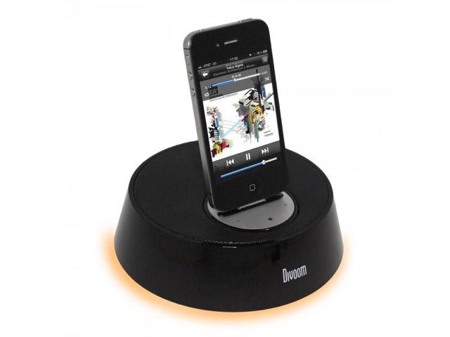 Акустичесная dock-станция Divoom iBase-1 для Apple iPad, iPhone 4/4S, iPod touch (4th gen.) (черная, стерео)