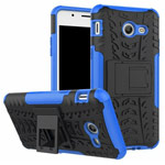 Чехол Yotrix Shockproof case для Samsung Galaxy J3 2017 (синий, пластиковый)