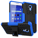 Чехол Yotrix Shockproof case для Meizu M3 Note (синий, пластиковый)