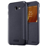 Чехол Nillkin Sparkle Leather Case для Samsung Galaxy A3 2017 (темно-серый, винилискожа)
