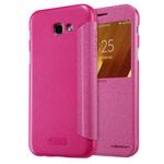 Чехол Nillkin Sparkle Leather Case для Samsung Galaxy A3 2017 (розовый, винилискожа)