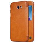 Чехол Nillkin Qin leather case для Samsung Galaxy A3 2017 (коричневый, кожаный)