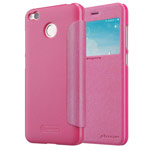 Чехол Nillkin Sparkle Leather Case для Xiaomi Redmi 4X (розовый, винилискожа)