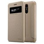 Чехол Nillkin Sparkle Leather Case для LG K10 2017 (золотистый, винилискожа)