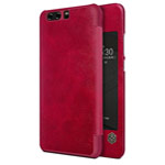 Чехол Nillkin Qin leather case для Huawei P10 (красный, кожаный)