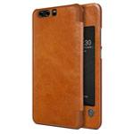 Чехол Nillkin Qin leather case для Huawei P10 (коричневый, кожаный)
