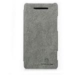 Чехол Nillkin Tree-texture Leather Case для HTC Windows Phone 8X (серый, кожанный)