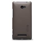 Чехол Nillkin Hard case для HTC Windows Phone 8X (коричневый, пластиковый)