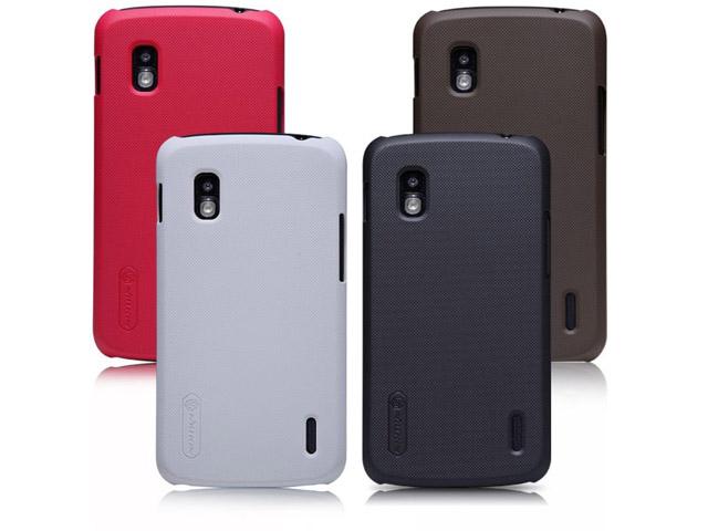 Чехол Nillkin Hard case для LG Google Nexus 4 E960 (белый, пластиковый)
