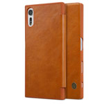 Чехол Nillkin Qin leather case для Sony Xperia XZs (коричневый, кожаный)