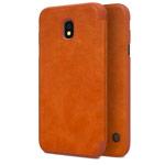 Чехол Nillkin Qin leather case для Samsung Galaxy J3 2017 (коричневый, кожаный)